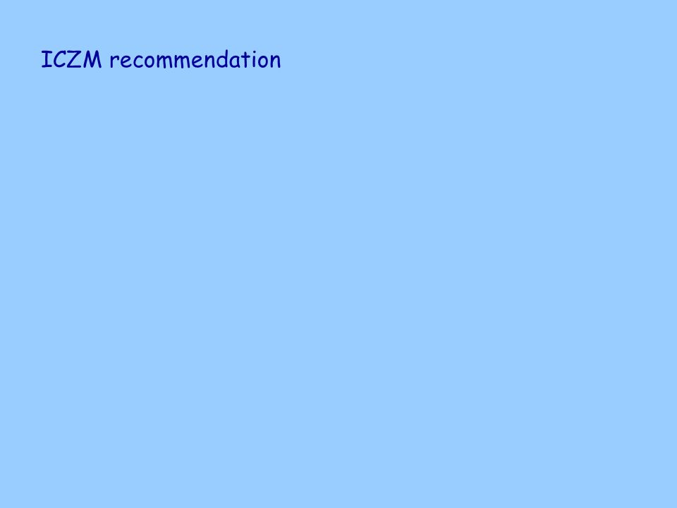 ICZM recommendation