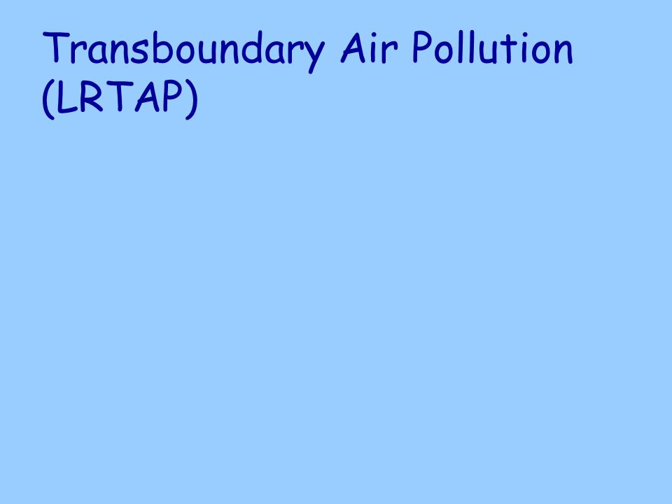 Transboundary Air Pollution (LRTAP)
