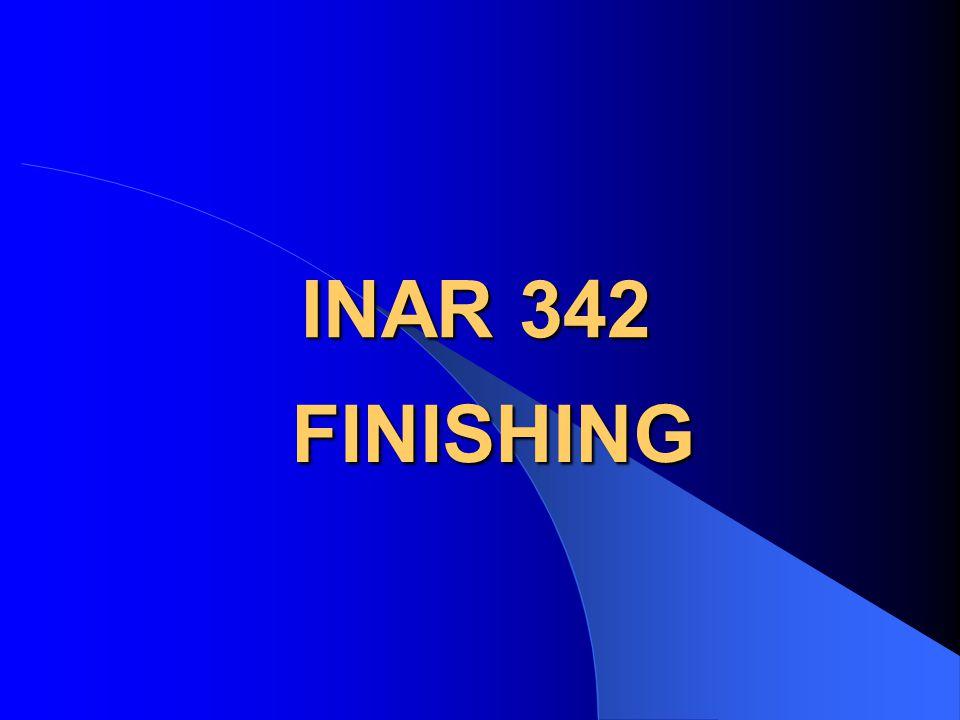 INAR 342 FINISHING