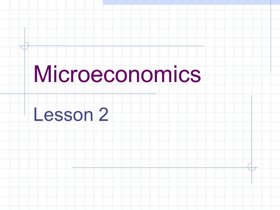 Microeconomics Lesson 2