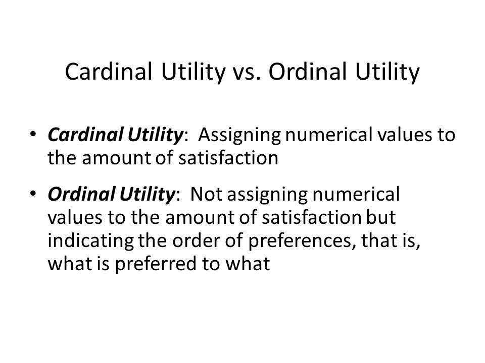 Cardinal Utility vs.