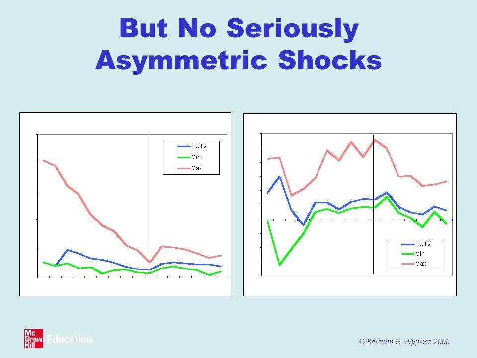© Baldwin & Wyplosz 2006 But No Seriously Asymmetric Shocks