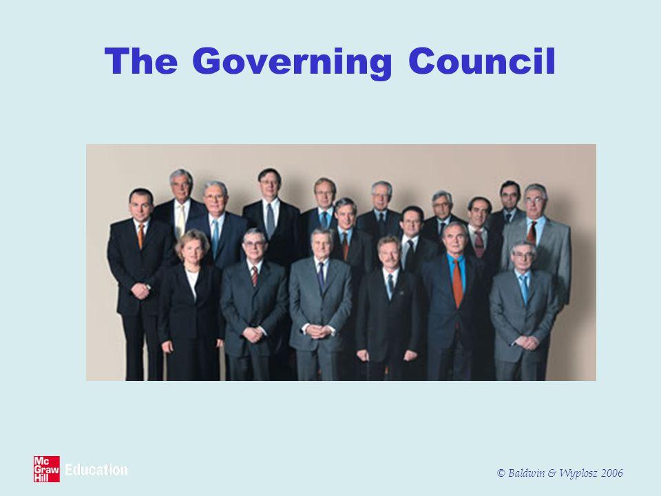 © Baldwin & Wyplosz 2006 The Governing Council