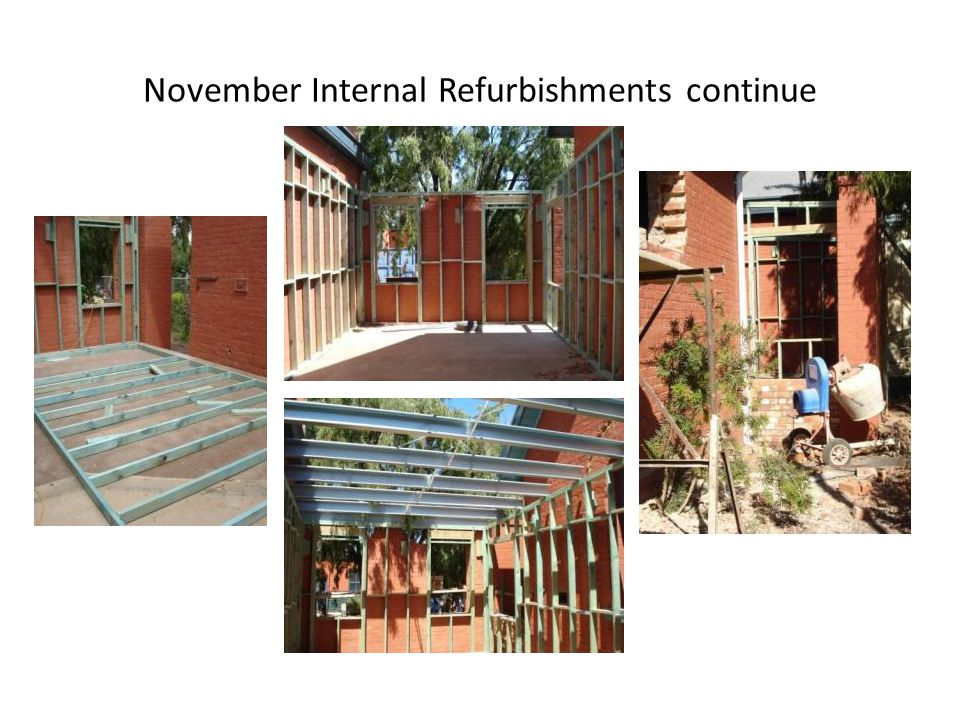 November Internal Refurbishments continue