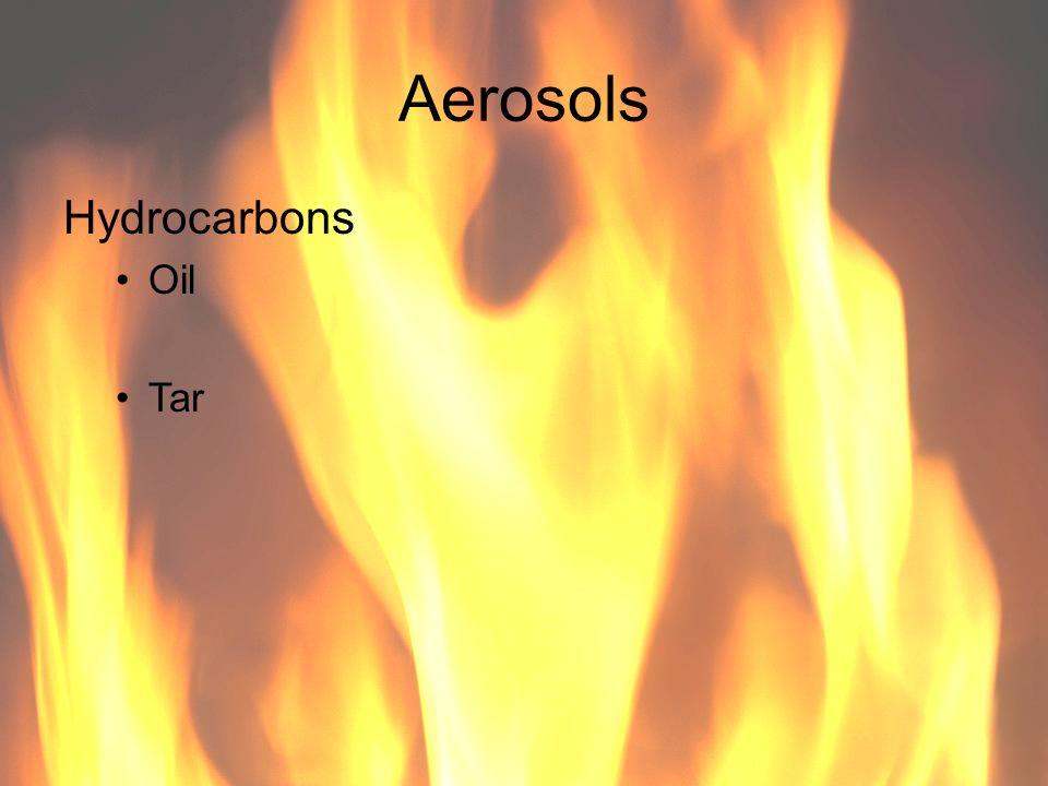 Aerosols Hydrocarbons Oil Tar