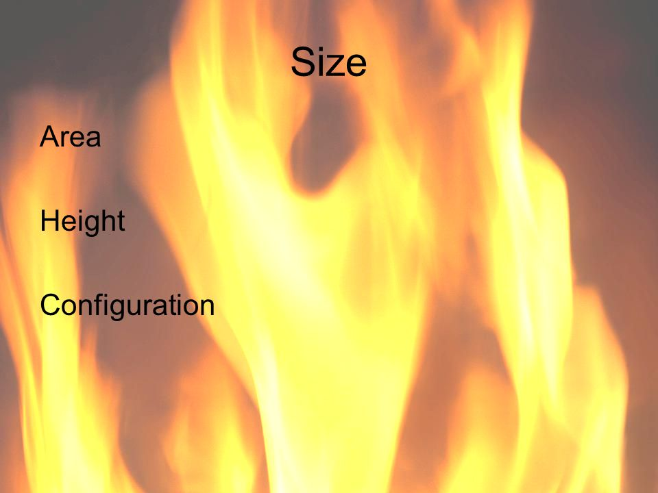Ventilation Volume Distance Type Influences fire spread
