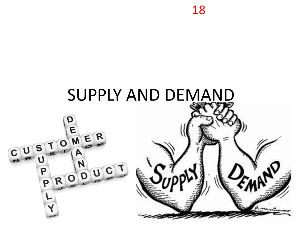 SUPPLY AND DEMAND 18
