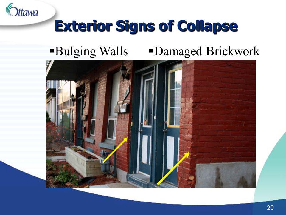 20 Exterior Signs of Collapse Bulging Walls Damaged Brickwork