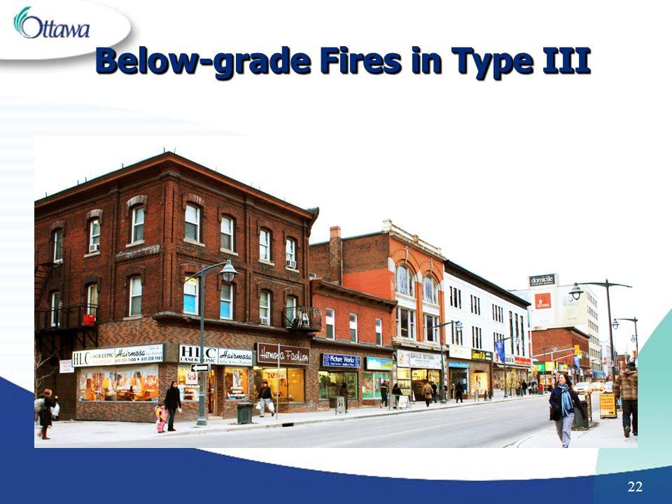 22 Below-grade Fires in Type III