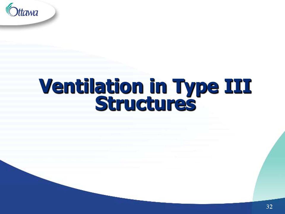 32 Ventilation in Type III Structures