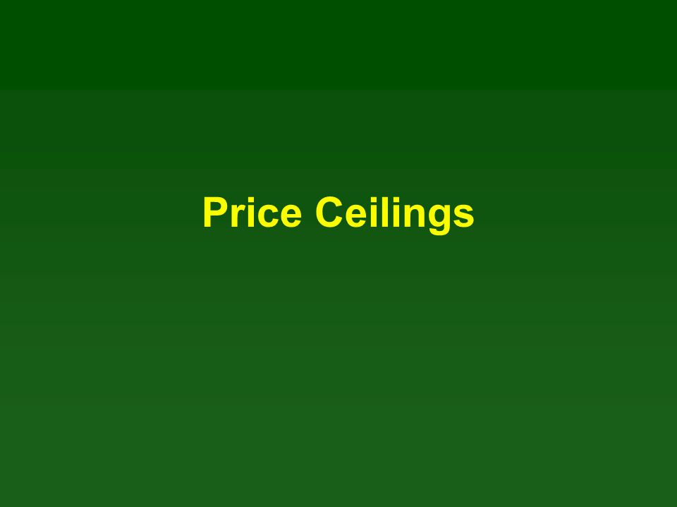 A Regulated Housing Market Price ceilings are regulations that make it illegal to charge a price higher than a specified level.