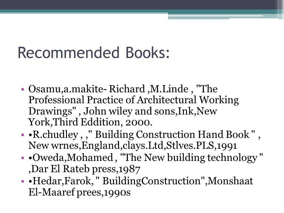 Recommended Books: Osamu,a.makite- Richard,M.Linde,