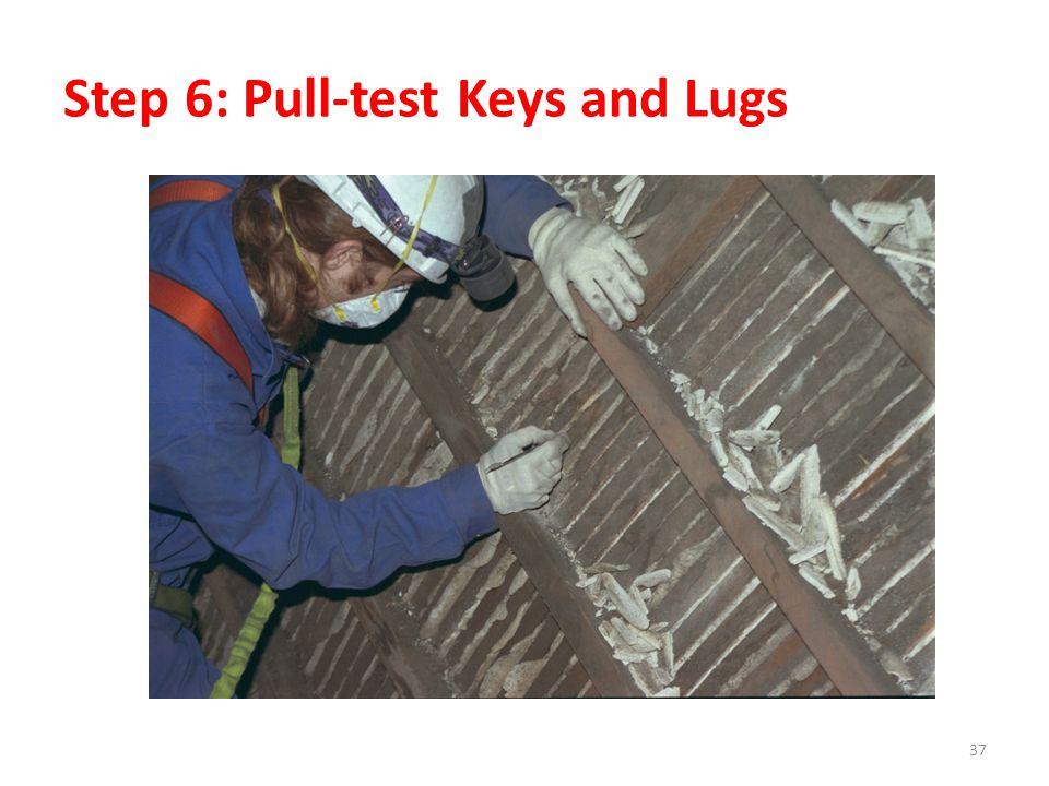Step 6: Pull-test Keys and Lugs 37