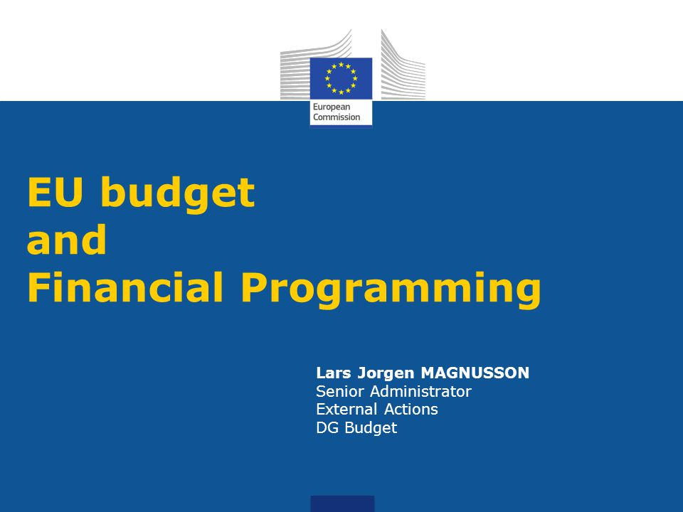 Lars Jorgen MAGNUSSON Senior Administrator External Actions DG Budget EU budget and Financial Programming