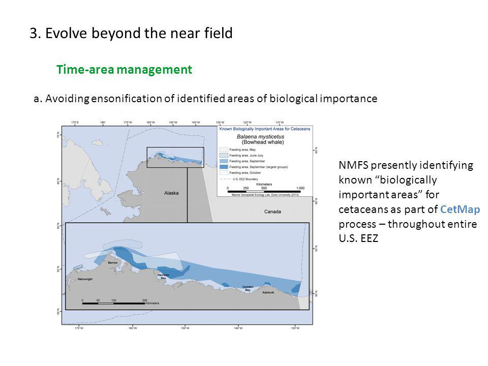 3. Evolve beyond the near field Time-area management a.