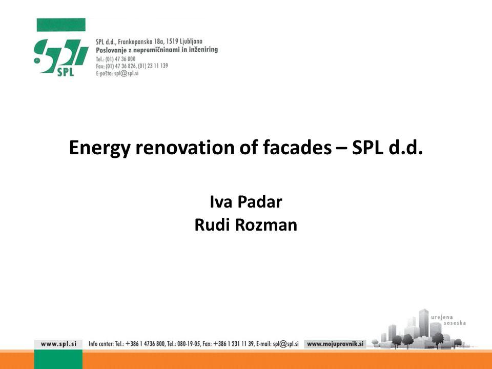 Energy renovation of facades – SPL d.d. Iva Padar Rudi Rozman