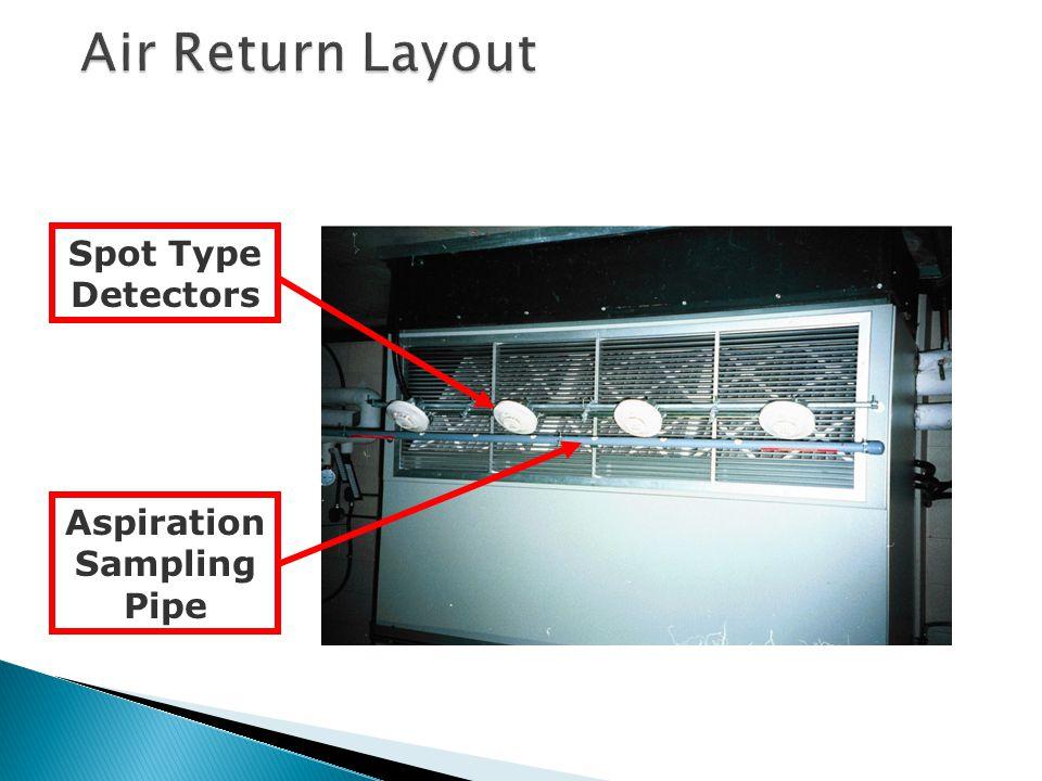 Aspiration Sampling Pipe Spot Type Detectors