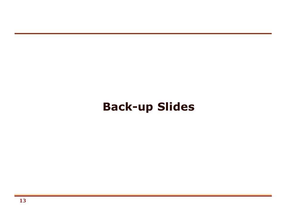 13 Back-up Slides