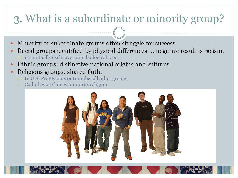 3. What is a subordinate or minority group.