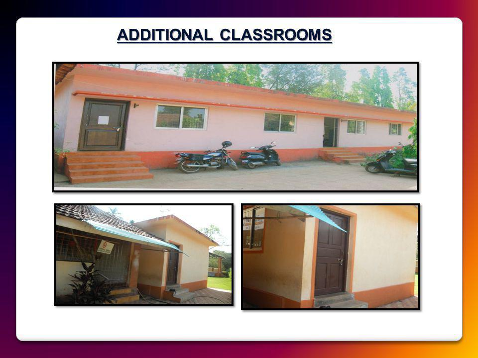 ADDITIONAL CLASSROOMS