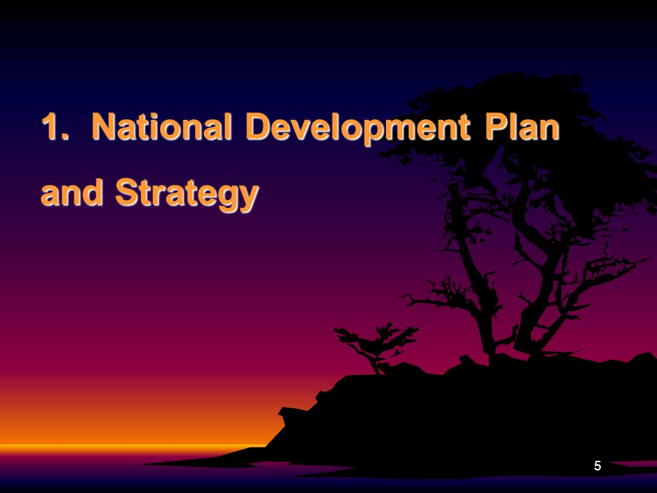 1. National Development Plan and Strategy 5