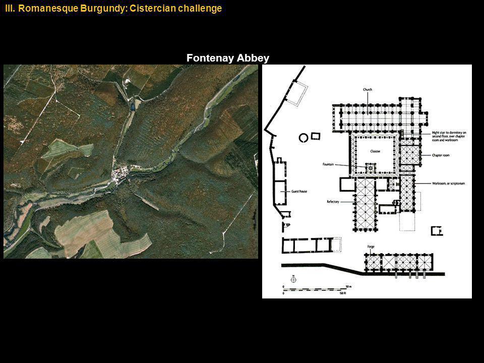 Fontenay Abbey III. Romanesque Burgundy: Cistercian challenge