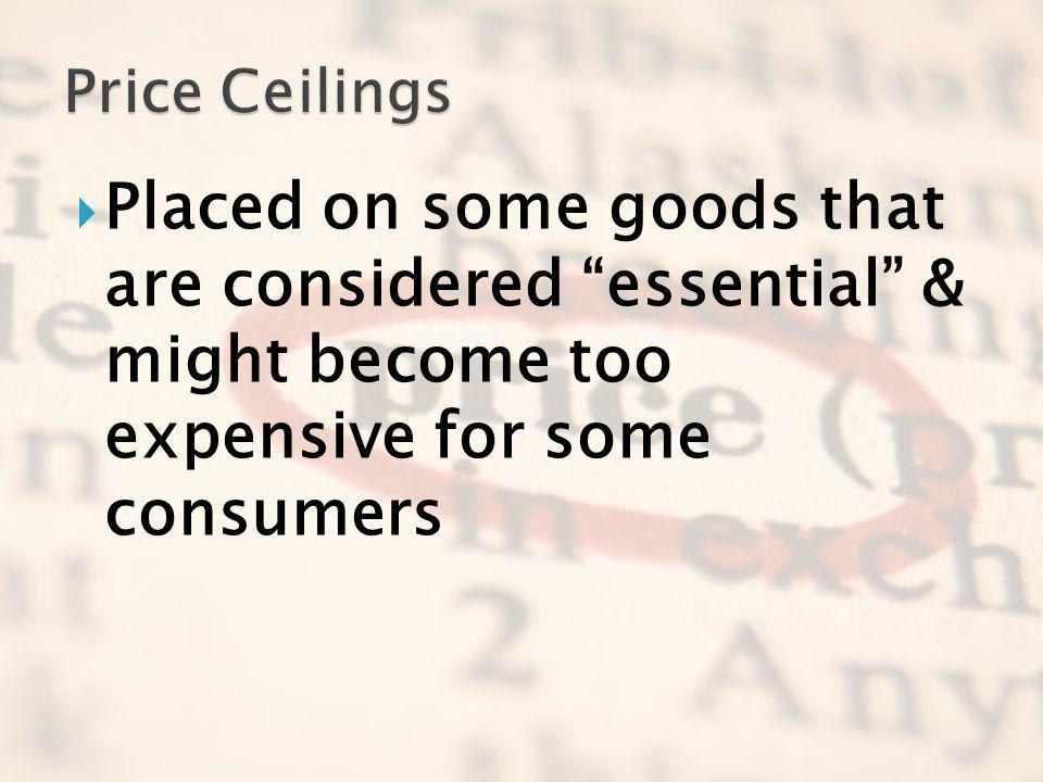 Placed on some goods that are considered essential & might become too expensive for some consumers