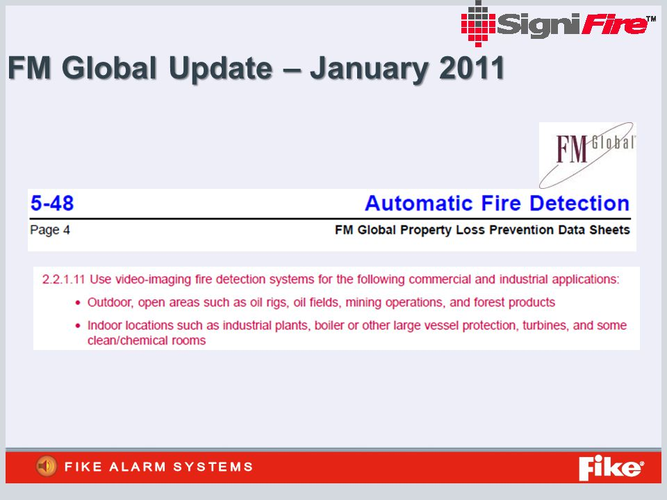 FM Global Update – January 2011