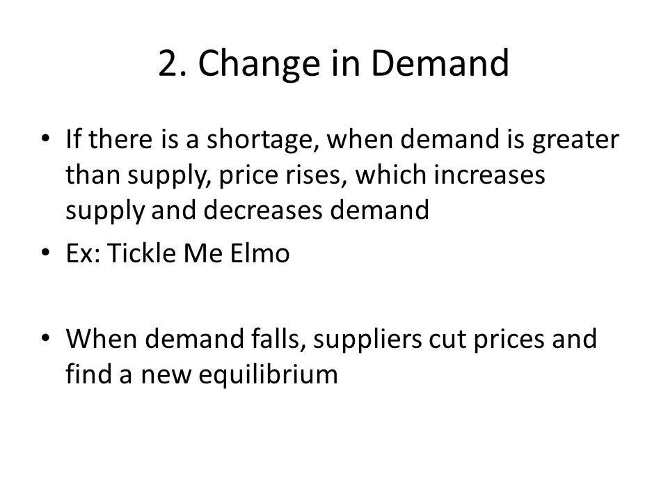 3. Change in Price As prices change, supply and demand will both change.