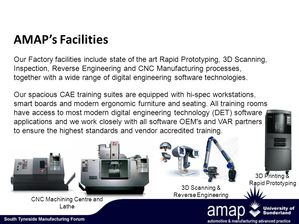 AMAPs Facilities Our spacious CAE training suites are equipped with hi-spec workstations, smart boards and modern ergonomic furniture and seating.