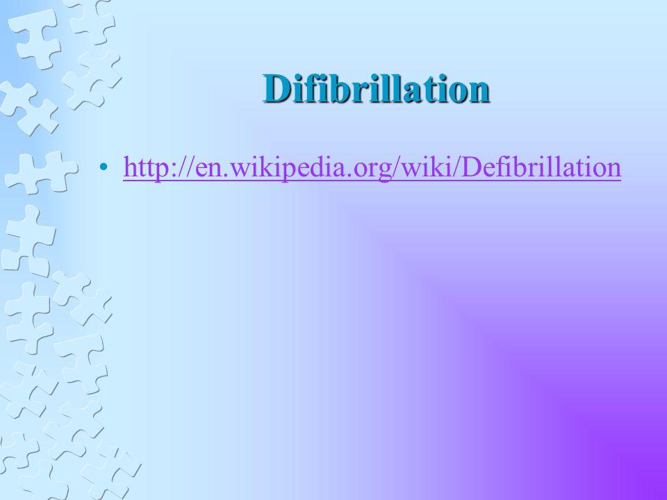 Difibrillation http://en.wikipedia.org/wiki/Defibrillation