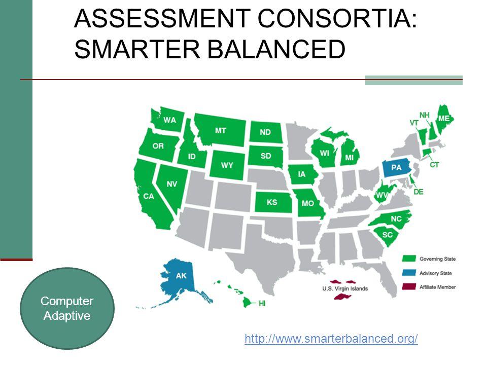 ASSESSMENT CONSORTIA: SMARTER BALANCED Computer Adaptive http://www.smarterbalanced.org/