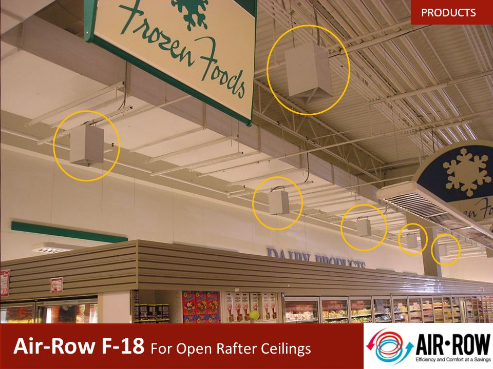 Heres a typical supermarket we just completed… Air-Row Case Study