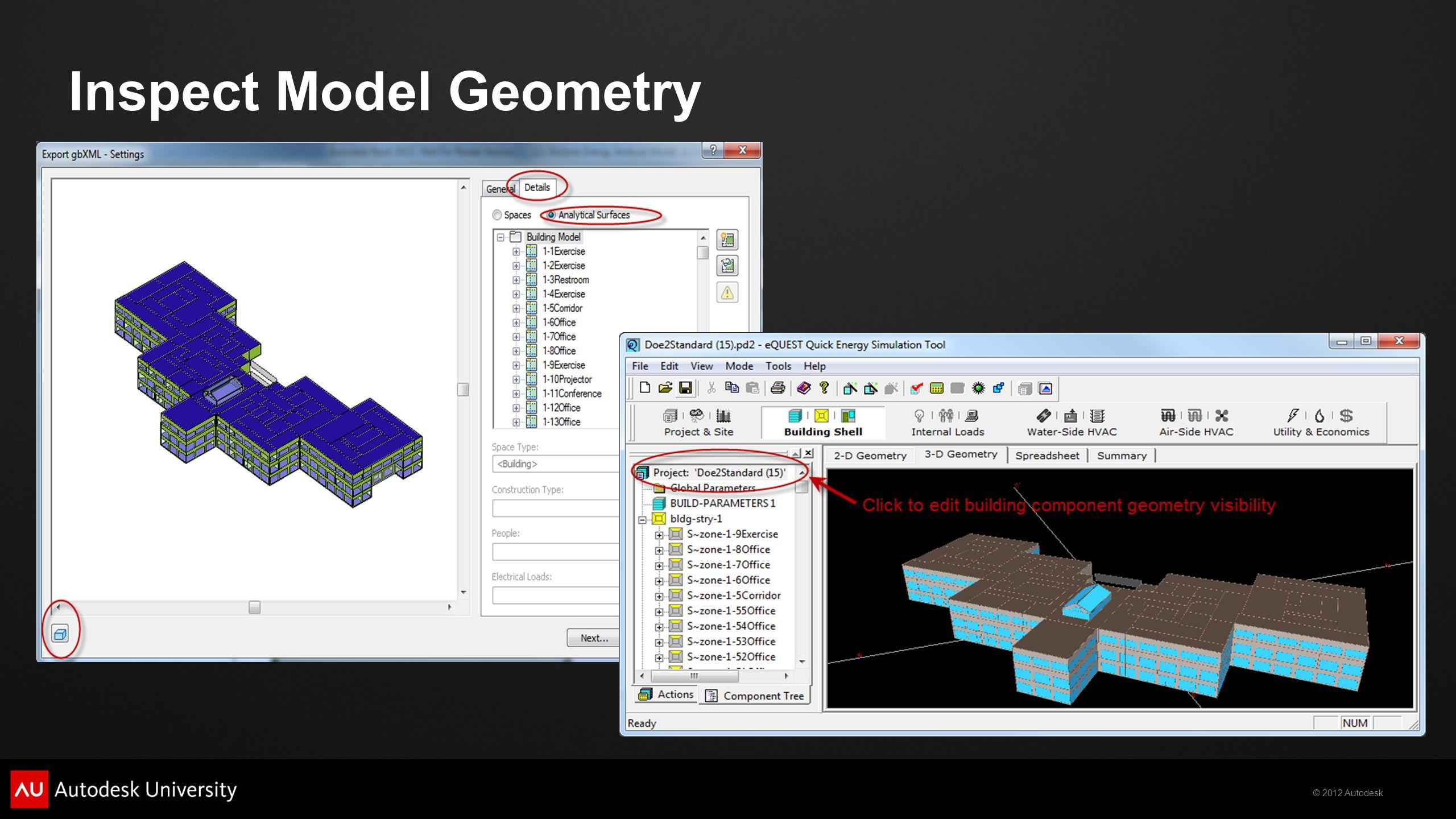 © 2012 Autodesk Inspect Model Geometry