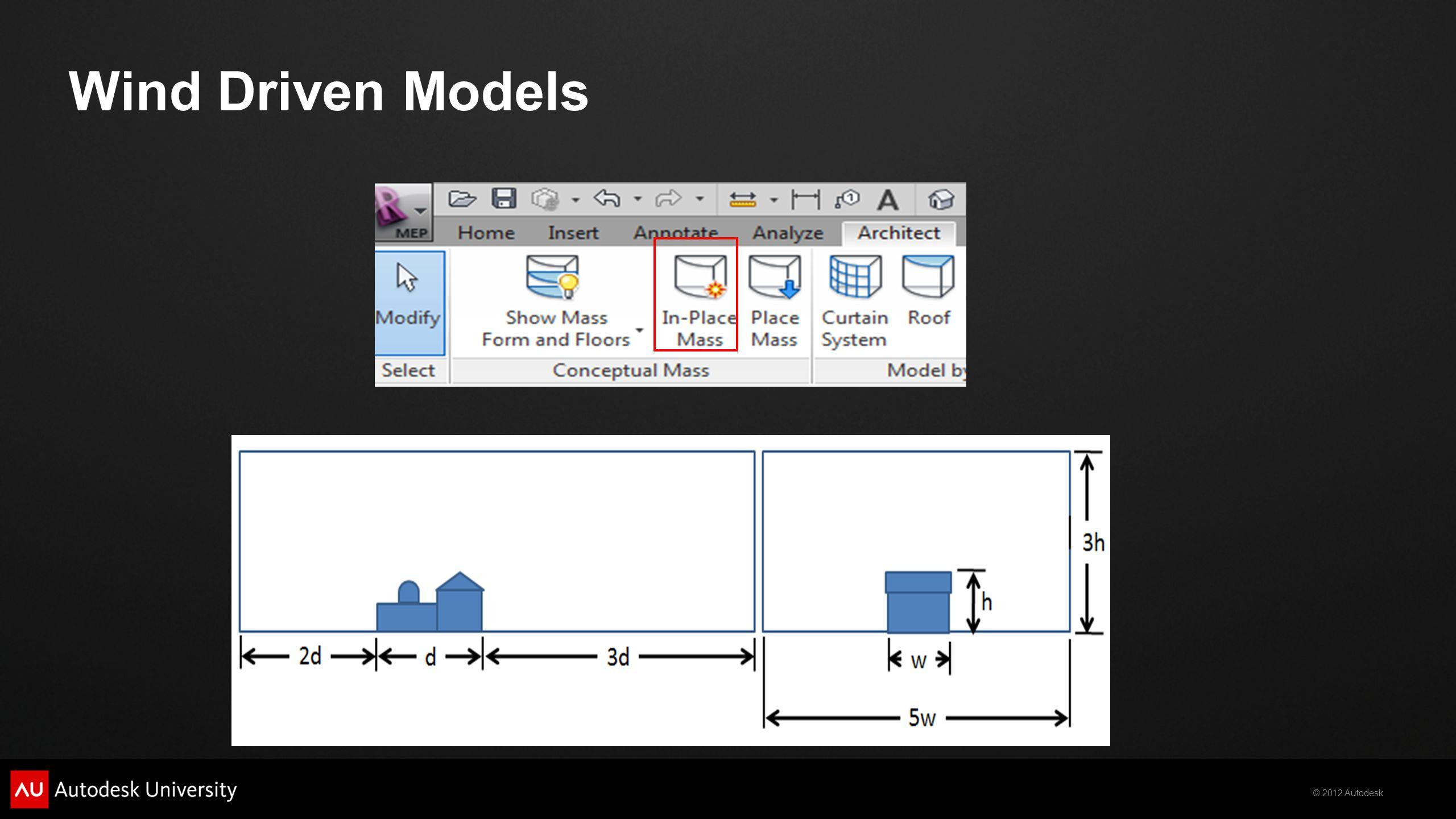 © 2012 Autodesk Wind Driven Models