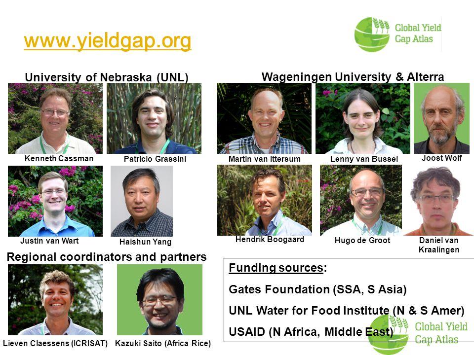 Global Yield Gap Atlas (GYGA) www.yieldgap.org www.yieldgap.org University of Nebraska (UNL) Wageningen University & Alterra Kenneth Cassman Patricio