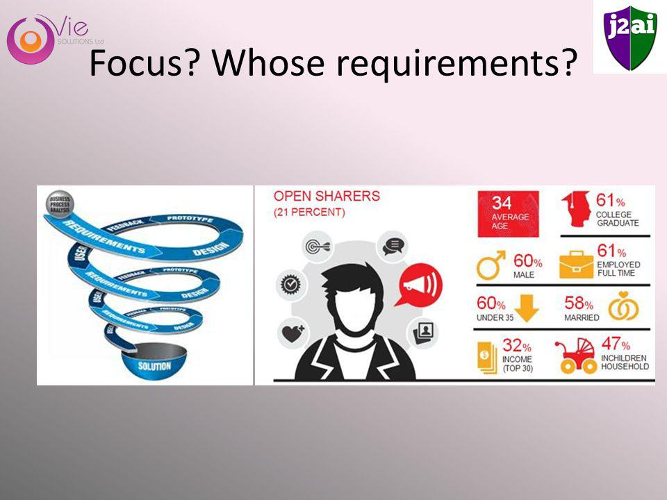 Focus Whose requirements