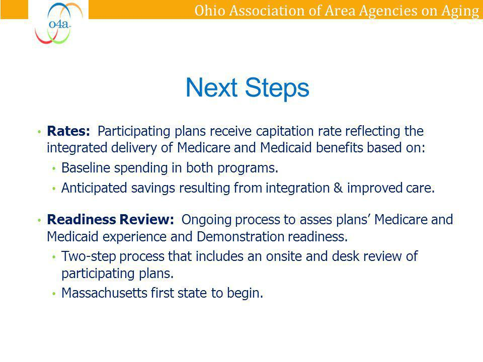 Ohio Association of Area Agencies on Aging 1.