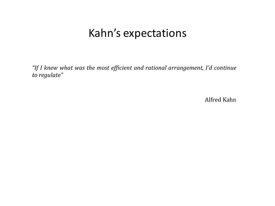 Kahns expectations