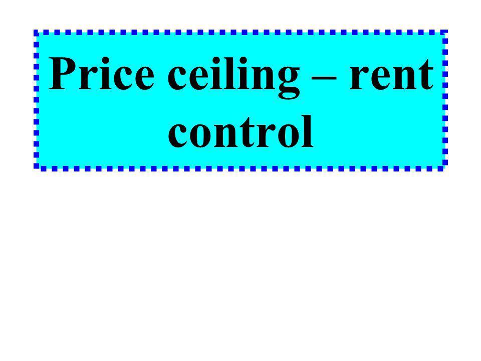 Price ceiling – rent control