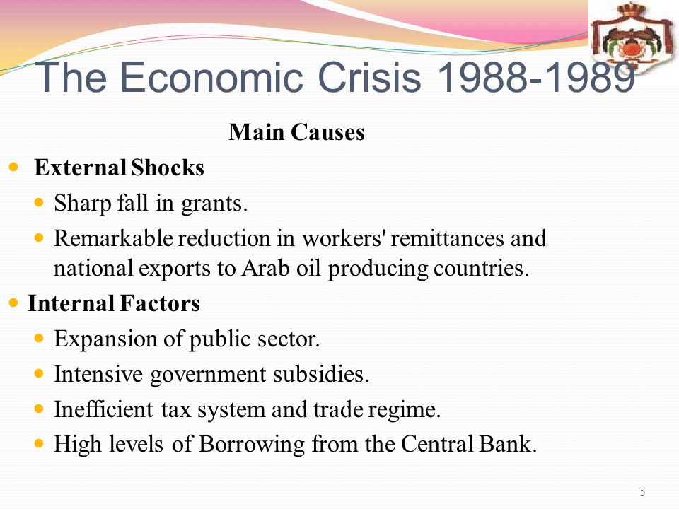 Jordans Economic Adjustment Programs 1989-2004 6 Jordan has been implementing comprehensive economic adjustment programs since 1989.