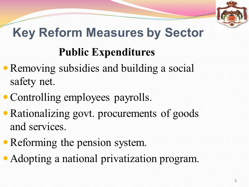 National Reform Program 2009-2005 19 Main Components and Objectives Maintaining and reinforcing achievements made under the completed IMF supported programs.