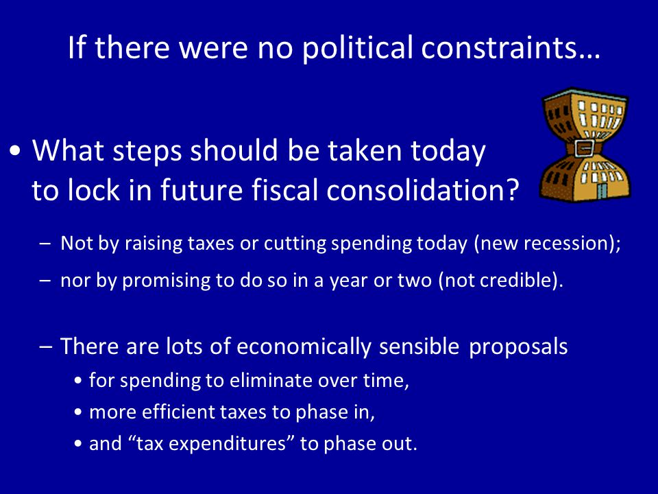 What steps should be taken today to lock in future fiscal consolidation.