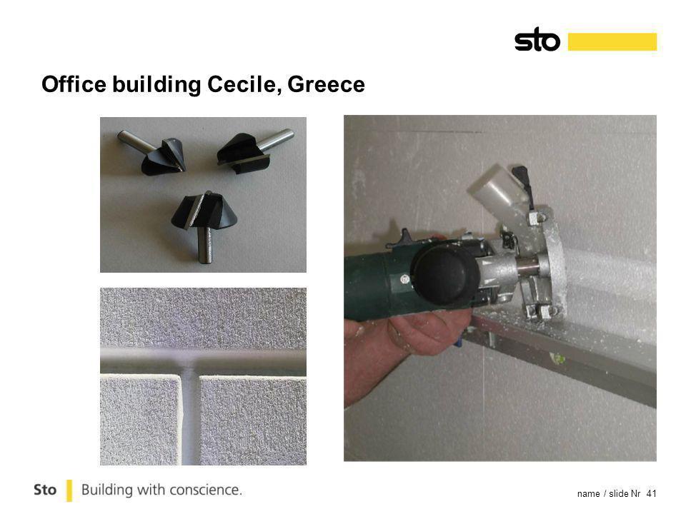 name / slide Nr 41 Office building Cecile, Greece