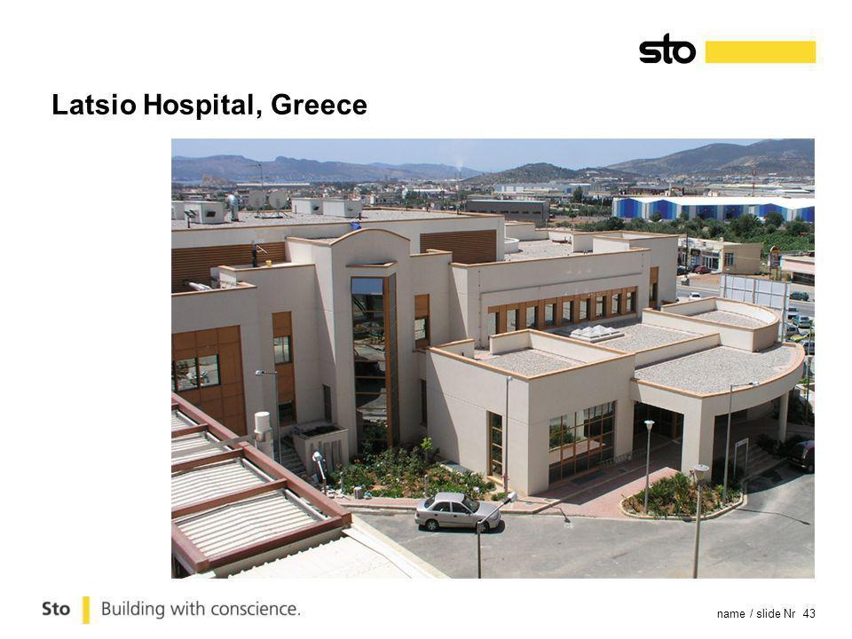 name / slide Nr 43 Latsio Hospital, Greece