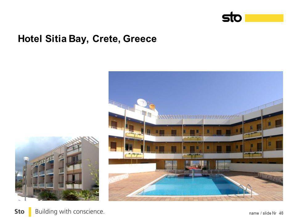 name / slide Nr 48 Hotel Sitia Bay, Crete, Greece
