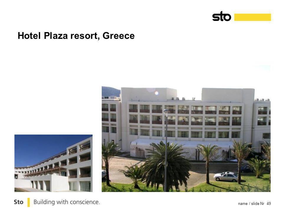 name / slide Nr 49 Hotel Plaza resort, Greece
