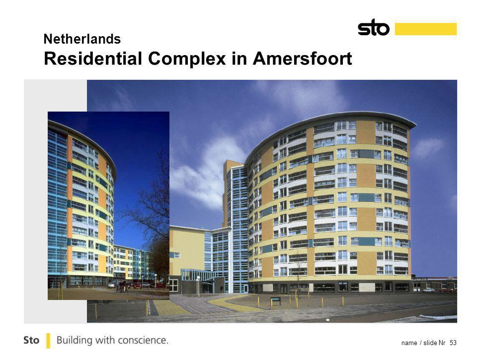name / slide Nr 53 Netherlands Residential Complex in Amersfoort
