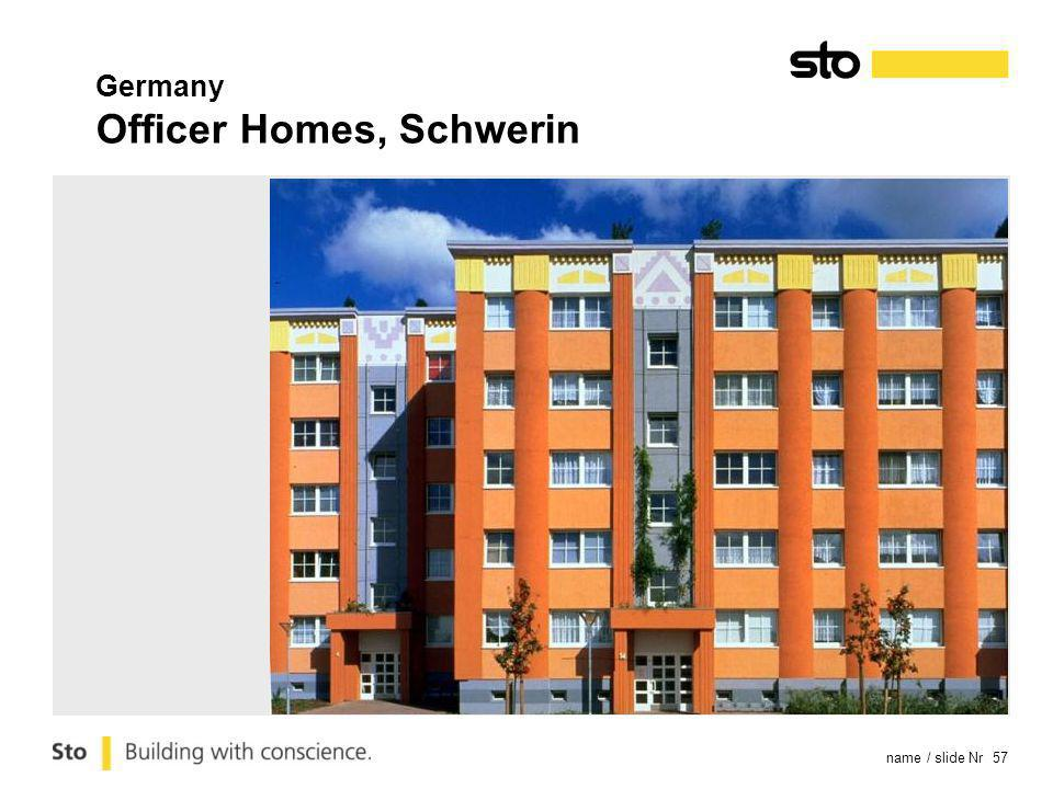 name / slide Nr 57 Germany Officer Homes, Schwerin