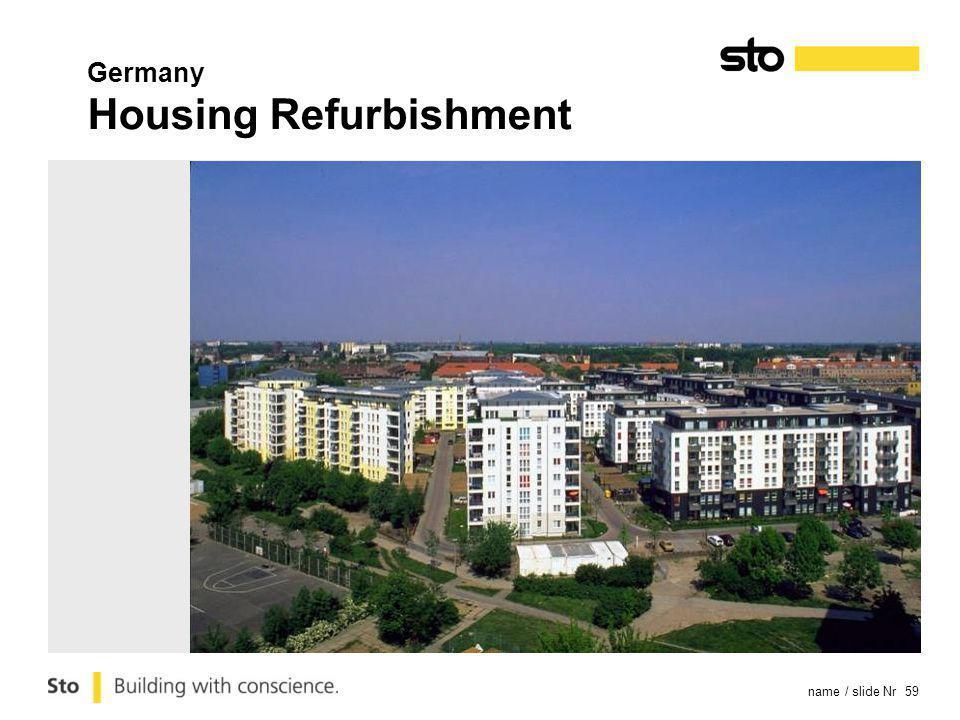 name / slide Nr 59 Germany Housing Refurbishment